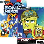 Pc - Spongebob Squarepants Double Pack + Sonic Heroes